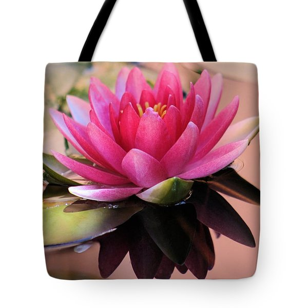 Pink Water Lily Tote Bag by Elizabeth Budd