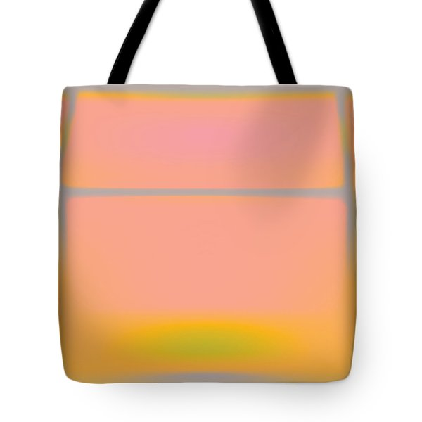 Pink Yellow And Grey Tote Bag