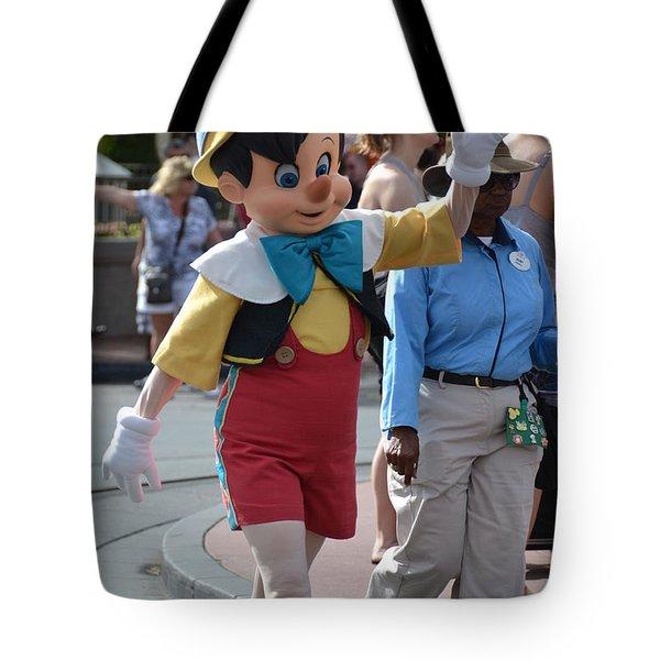 Pinocchio Tote Bag by Bonnie Myszka