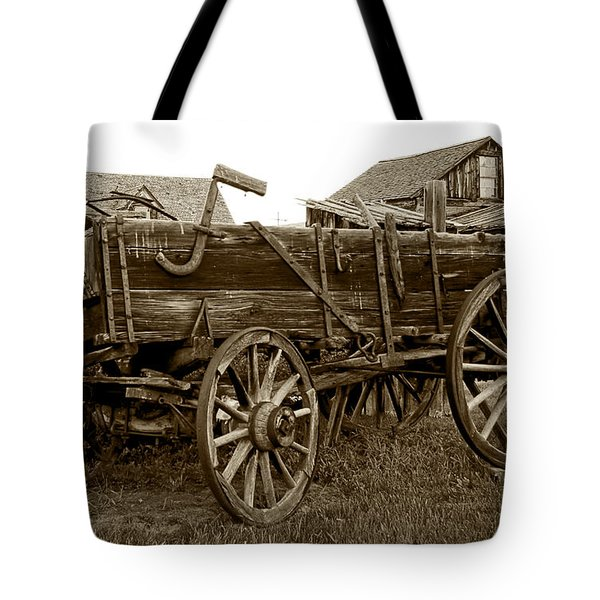 Pioneer Freight Wagon - Nevada City Ghost Town Tote Bag by Daniel Hagerman