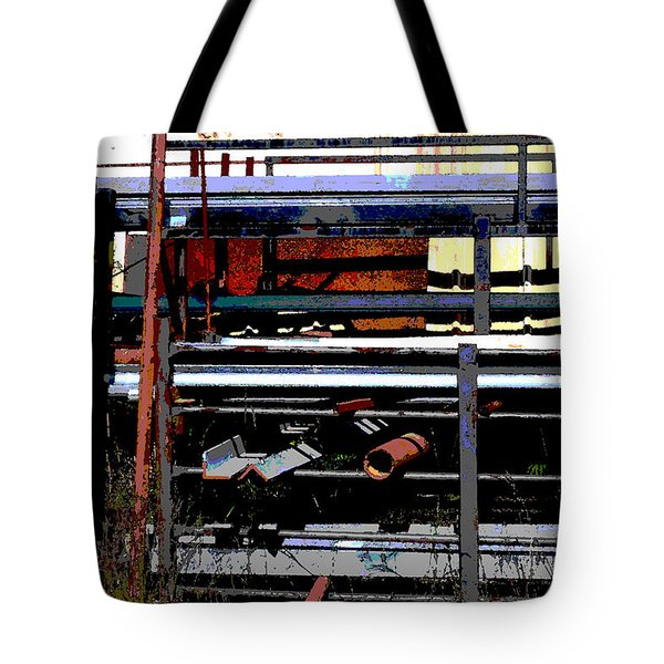 Pipes And Angle Iron Tote Bag by Paulette B Wright