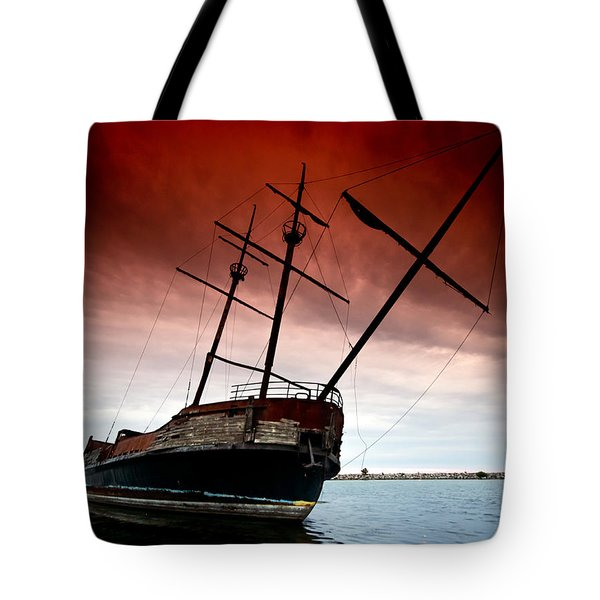 Pirate Ship 2 Tote Bag by Cale Best