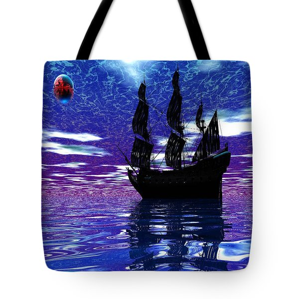 Pirate Ship Tote Bag by Matthew Lacey