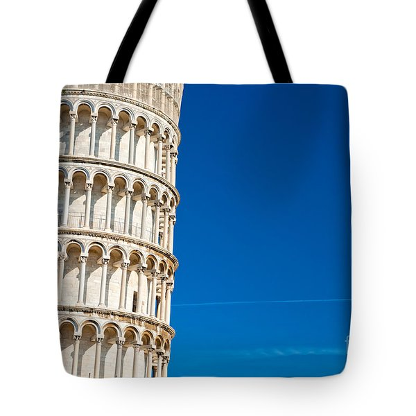 Tote Bag featuring the photograph Pisa Leaning Tower by Luciano Mortula