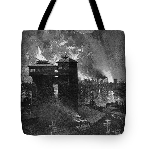 Pittsburgh: Blast Furnaces Tote Bag by Granger