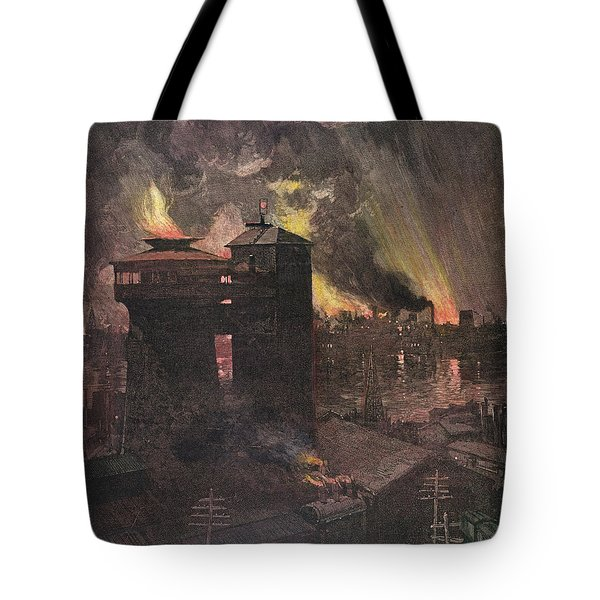 Pittsburgh: Furnaces, 1885 Tote Bag by Granger