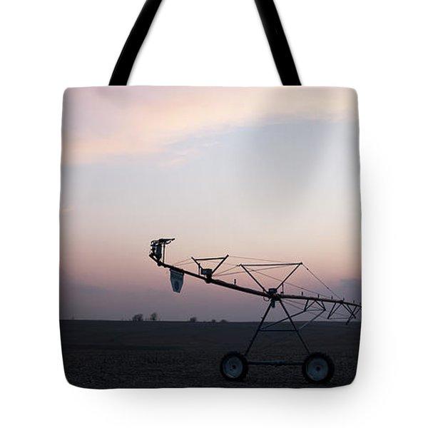Pivot Irrigation And Sunset Tote Bag by Art Whitton