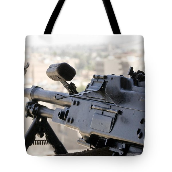 Pkm 7.62 Machine Gun Nest On Top Tote Bag by Terry Moore