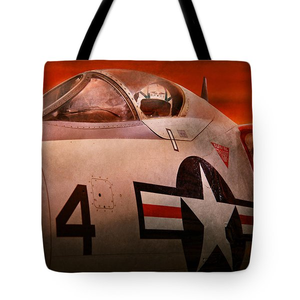 Plane - Pilot - Airforce - Go Get Em Tiger  Tote Bag by Mike Savad