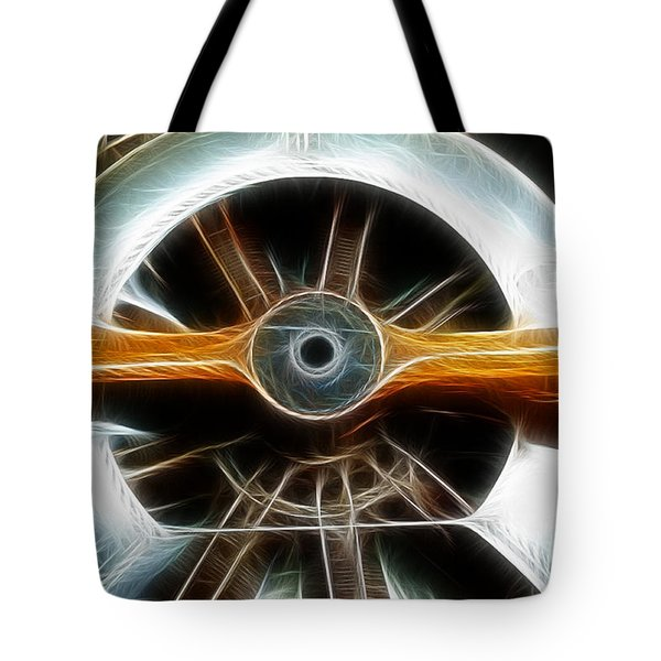 Plane Wood And Chrome Tote Bag by Paul Ward