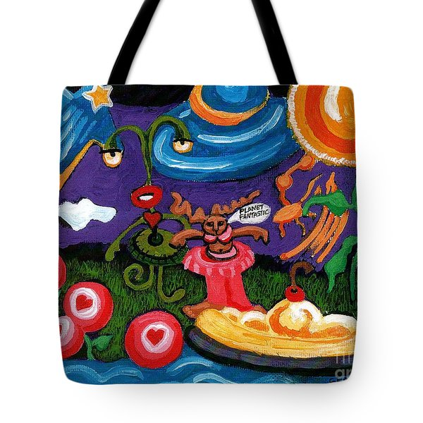 Planet Fantastic Tote Bag by Genevieve Esson