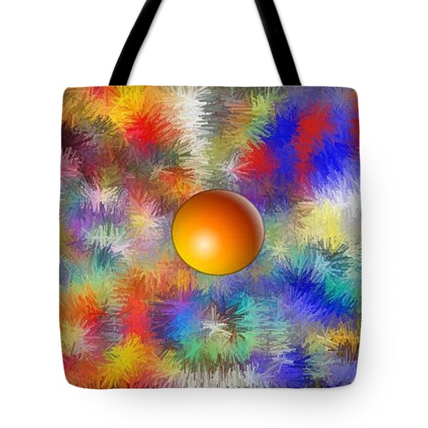 Tote Bag featuring the digital art Planet Stand Out by Alec Drake