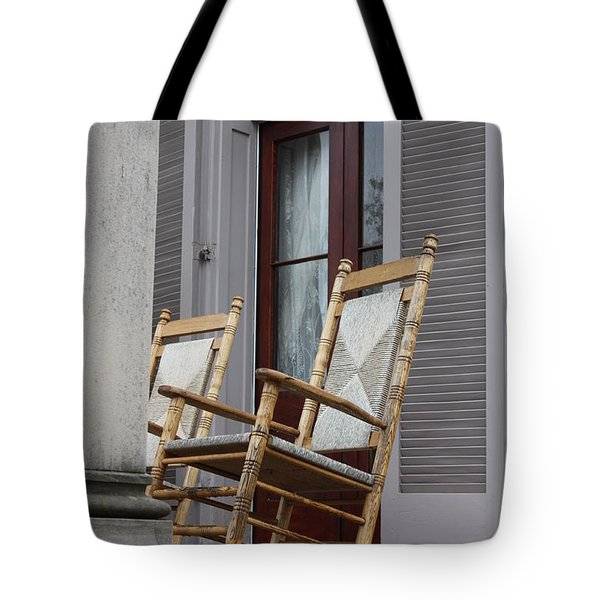Plantation Rocking Chairs Tote Bag by Carol Groenen