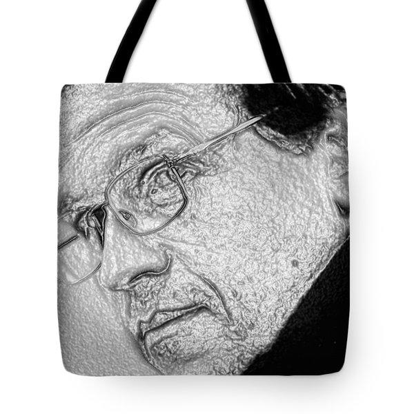 Plastic Man Tote Bag by Robert Margetts