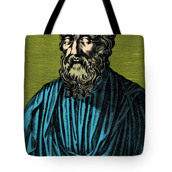 Plato, Ancient Greek Philosopher Tote Bag by Photo Researchers
