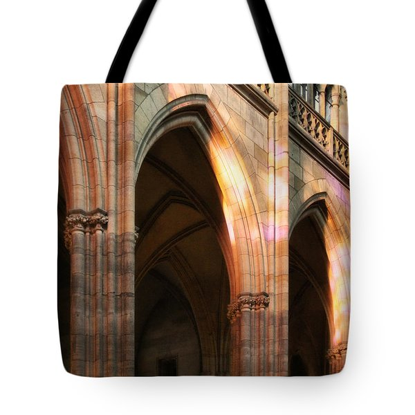 Play Of Light And Shadow - Saint Vitus' Cathedral Prague Castle Tote Bag by Christine Till
