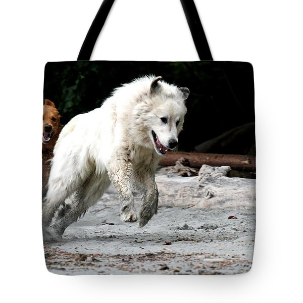 Play Time On The Beach Tote Bag