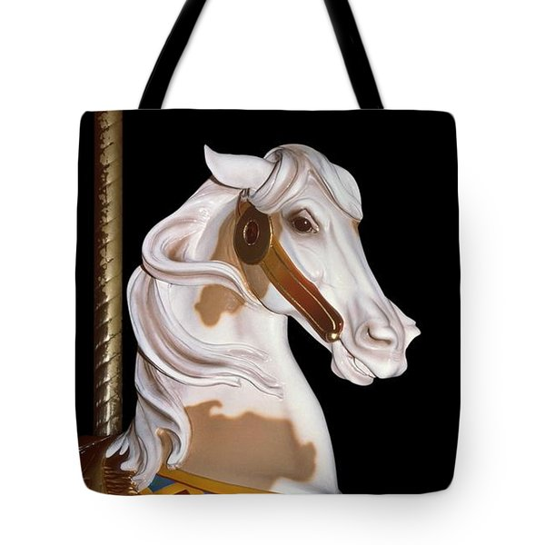 playful pony pictures - Prancing Pinto I Tote Bag