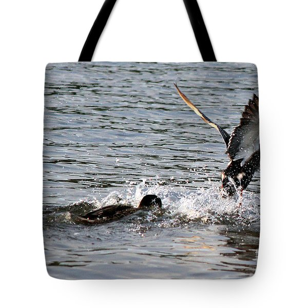 Tote Bag featuring the photograph Playing Chase by Kathy  White