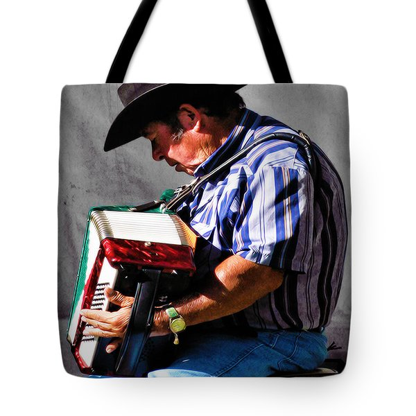 Playing For Taos Tote Bag by Terry Fiala