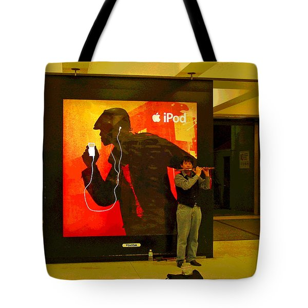 Playing For Tips Tote Bag by Suzanne Gaff