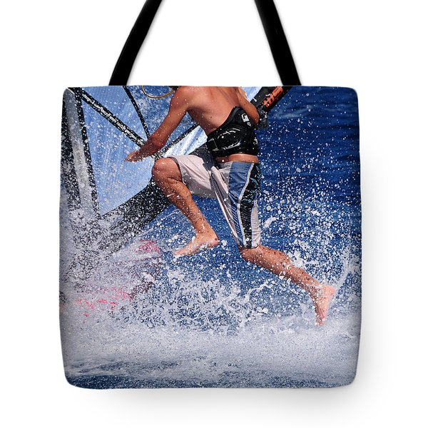Playing With The Waves Tote Bag