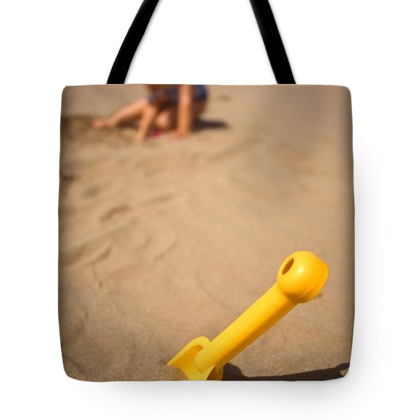 Playtime At The Beach Tote Bag by Meirion Matthias