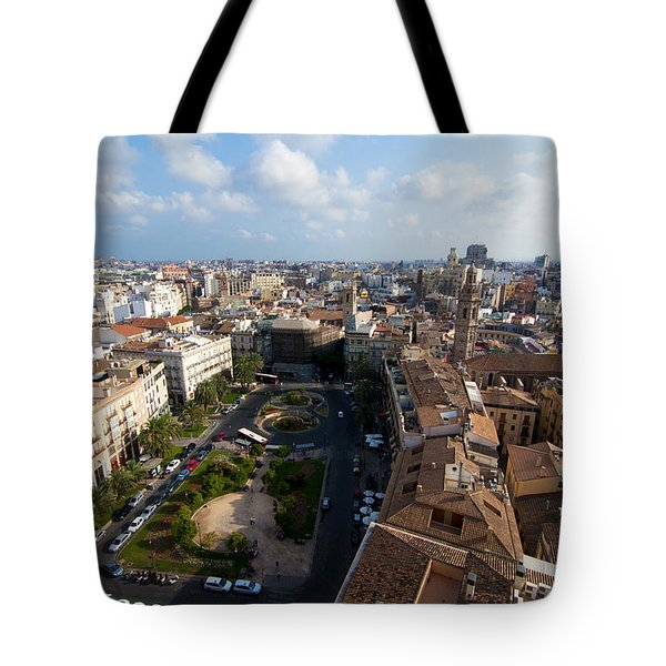 Plaza De La Reina Tote Bag by Fabrizio Troiani