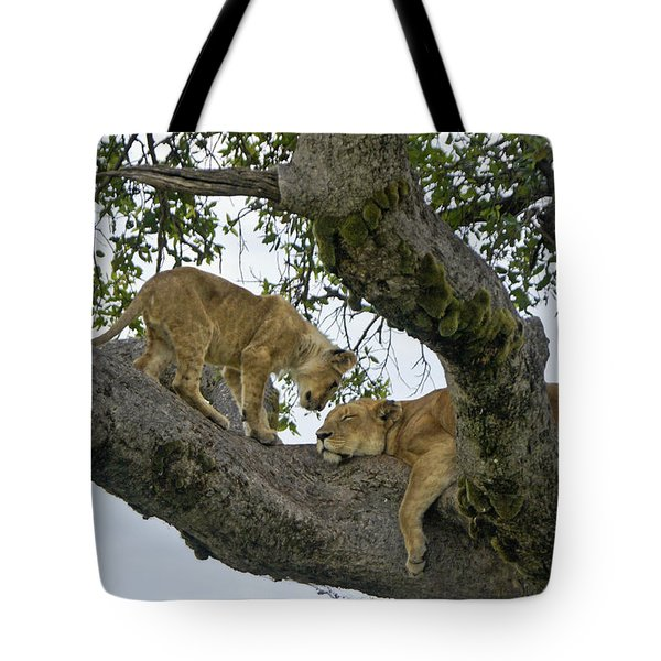 Please Wake Up Tote Bag by Michele Burgess
