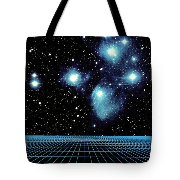 Pleiades In Taurus Tote Bag by Science Source