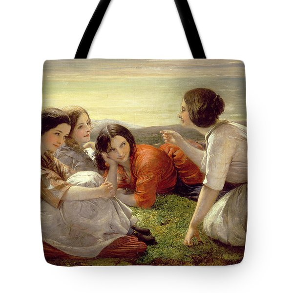 Plotting Mischief Tote Bag by Frank Stone