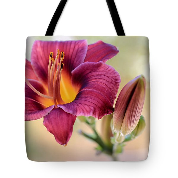 Plum Perfect Tote Bag by Heidi Smith