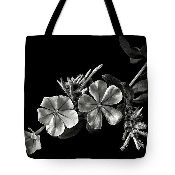 Plumbago In Black And White Tote Bag
