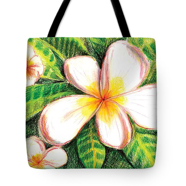 Plumeria With Foliage Tote Bag