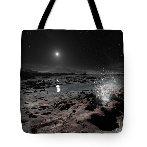 Pluto May Have Springs Of Liquid Oxygen Tote Bag by Ron Miller