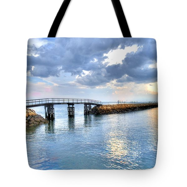 Plymouth Sunset Tote Bag by Tammy Wetzel