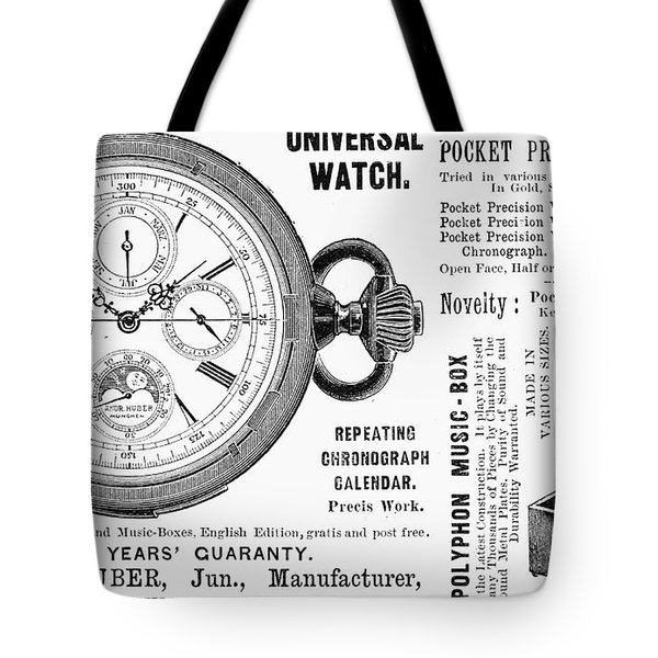 Pocket Watch, 1897 Tote Bag by Granger