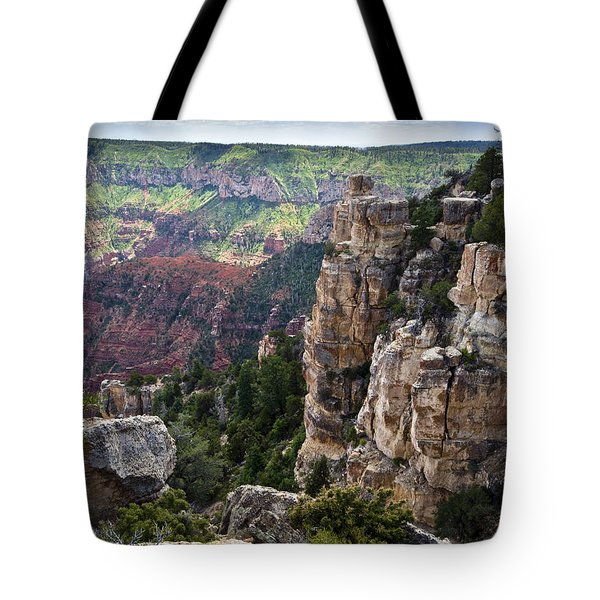 Point Imperial Cliffs Grand Canyon Tote Bag by Gary Eason