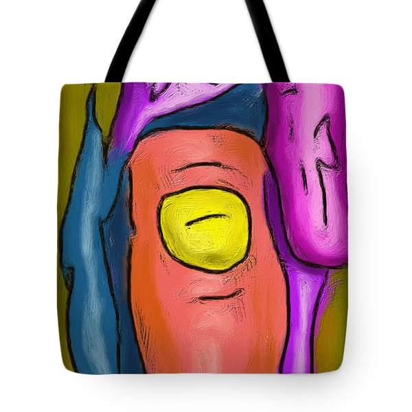 Pointing Out Tote Bag
