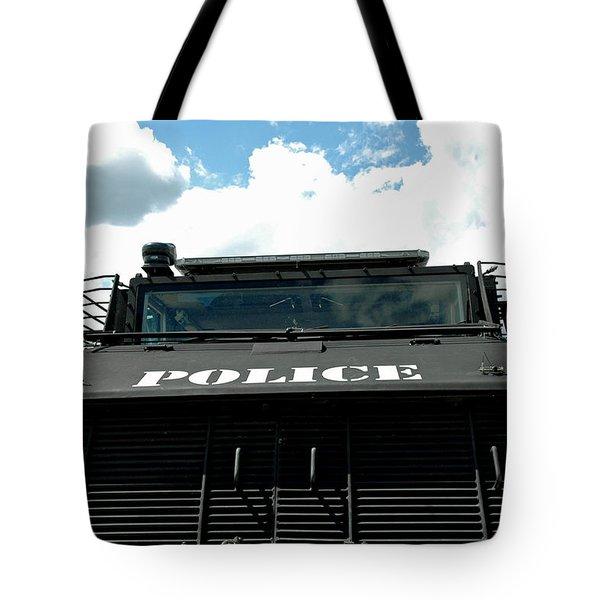 Police Force Tote Bag by LeeAnn McLaneGoetz McLaneGoetzStudioLLCcom