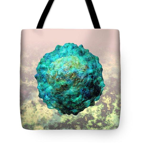 Polio Virus Particle Or Virion Poliovirus 1 Tote Bag