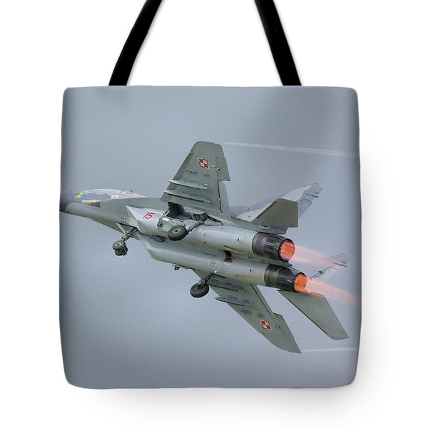 Polish Air Force Mig-29 Tote Bag by Tim Beach