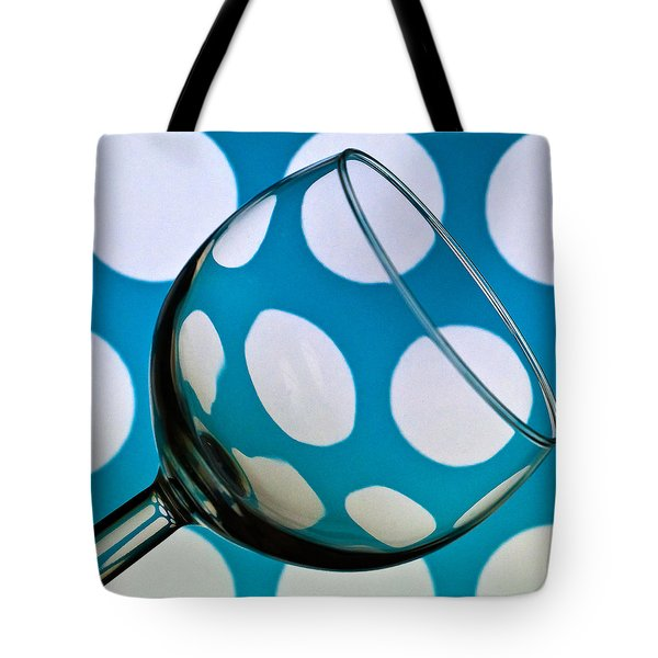 Tote Bag featuring the photograph Polka Dot Glass by Steve Purnell