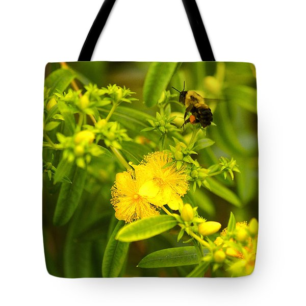 Pollinating The Flower Tote Bag