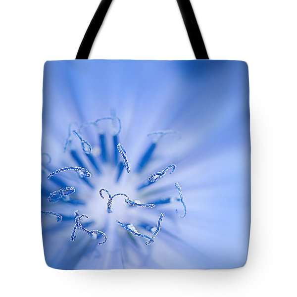 Tote Bag featuring the photograph Pollination  Blue Chicory by Randall Branham