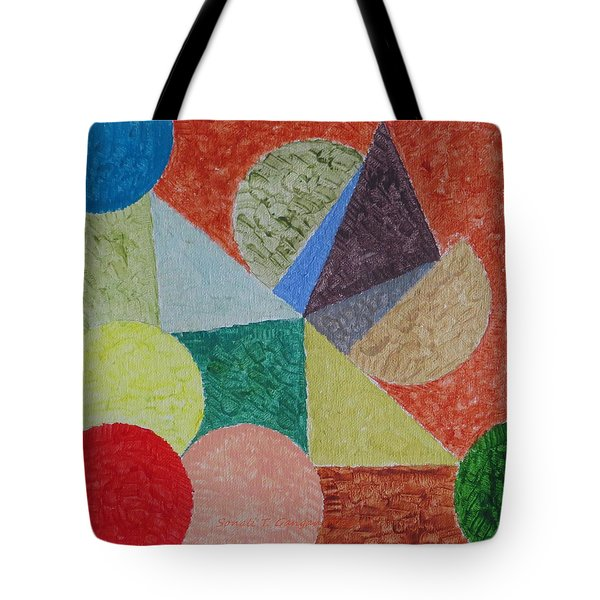Tote Bag featuring the painting Polychrome by Sonali Gangane