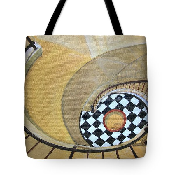 Tote Bag featuring the painting Ponce De Leon Lighthouse by Mary Kay Holladay
