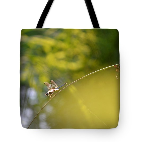 Tote Bag featuring the photograph Pond-side Perch by JD Grimes