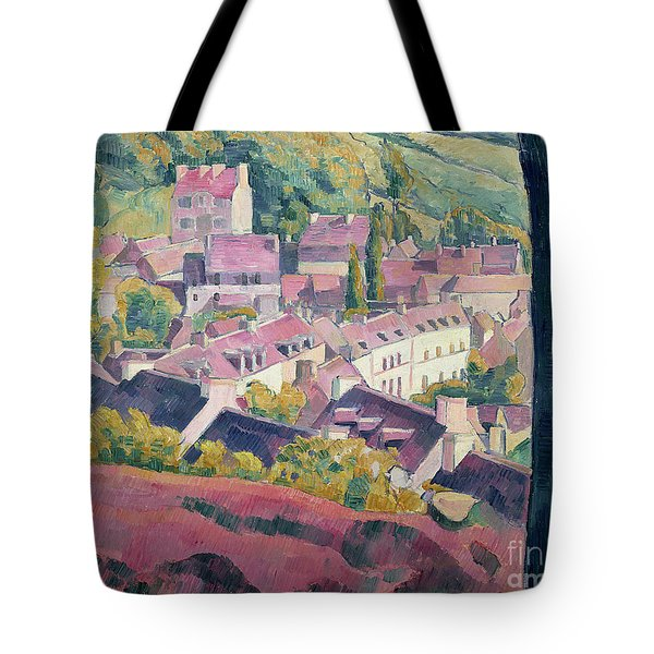 Pont Aven Seen From The Bois D'amour Tote Bag by Emile Bernard