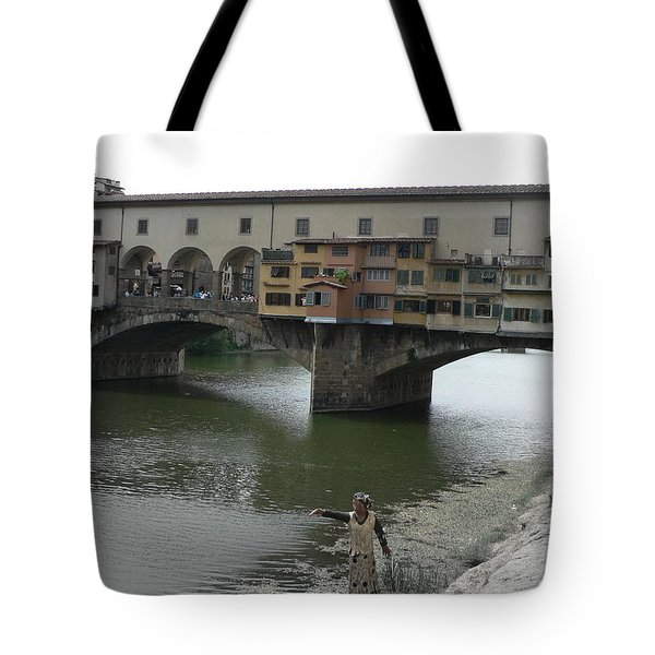 Tote Bag featuring the photograph Ponte Vecchio by Laurel Best